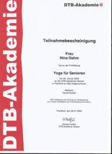 DTB-Akademie Zertifikat Nina Dahm